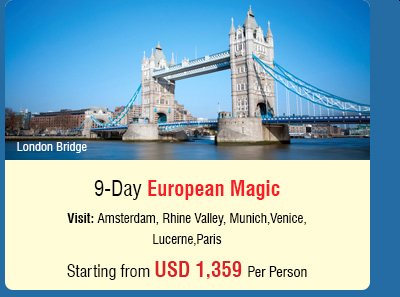 9 Day European Magic