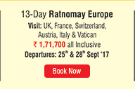 13-Day Ratnomay Europe